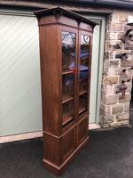Arts & Crafts Glazed Oak Bookcase (9 of 11)