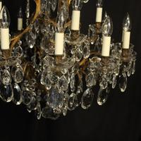 French Gilded Bronze 17 Light Antique Chandelier (7 of 10)