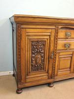 Antique Late 19th Century Oak Sideboard Dresser Base. (11 of 14)