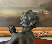 Fine Large 19th Century Antique Solid Bronze Cherub Sculpture Statue Figurine (12 of 13)