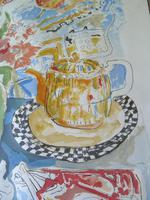 Modern British , Bloomsbury Group L/E Still Life Print- Indistinctly Signed (6 of 7)