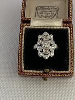 Art Nouveau 18ct White Gold Diamond Ring .88ct (4 of 8)
