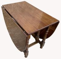 Good Quality Solid Oak Drop Leaf Table (5 of 6)
