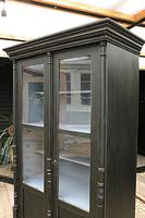 Fabulous Old Pine / Black Painted Glazed Cupboard / Display Cabinet - We Deliver! (5 of 12)