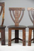 6 Arts & Crafts Carved Oak Chairs (9 of 12)