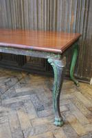 Antique French iron coffee table (3 of 6)