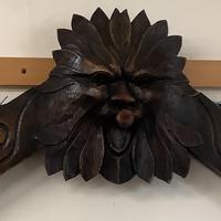 Green Man Oak Hall Coat Hanging Rack (2 of 3)