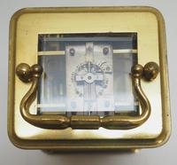 Good Antique French 8-day Carriage Clock Bevelled Case with Bell Alarm Feature (13 of 13)