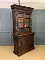 Imposing Carved Oak Bookcase (16 of 23)