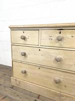 Rustic Antique Pine Chest of Drawers (4 of 10)