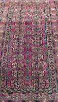 Antique Tekke Turkoman Carpet Rare Shade (3 of 4)