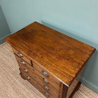 Country Georgian Mahogany Antique Chest of Drawers (5 of 7)