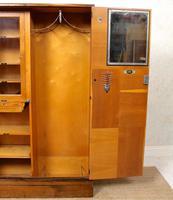 Compactum Oak Wardrobe Antique Vintage Gents Armoire (3 of 14)