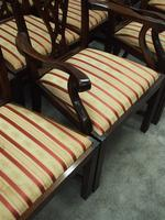 Set of 12 Georgian Style Mahogany Dining Chairs (7 of 12)