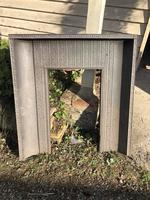 Antique Cast Iron Fire Place Insert or Surround