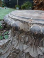Stunning 18th / 19th Century Walnut ? Hand Carved Corinthian Column Bases (3 of 12)