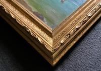 Original Antique 19th Century British Coastal Seascape Oil on Board Painting (9 of 10)