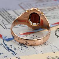 The Antique Edwardian 1904 Rose Gold Garnet Ring (6 of 6)