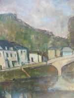 Oil on Canvas Laid on Board by the River Loire Listed Artist John Denahy (5 of 10)