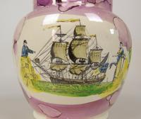 Sunderland Pink Lustre Jug Maritime (3 of 9)