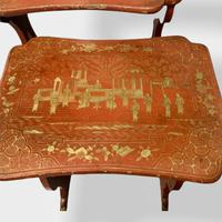 Crutsy Nest of 4 Chinese Red Lacquered Tables (8 of 13)