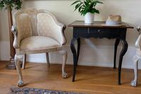 Pair of Late 19th Century French Part Upholstered Painted Tub Chairs (6 of 23)