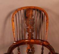Superb Yew Wood Broad Arm Windsor Chair Worksop maker (4 of 5)
