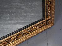 Antique Gilded & Ebonised Rectangular Wall Mirror (9 of 14)