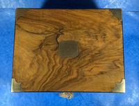 Victorian  Walnut Brassbound Writing Slope (11 of 19)