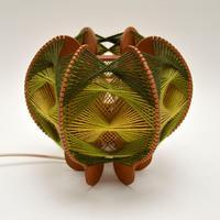 Vintage Spun Wool Pendant / Table Lamp (3 of 6)