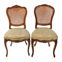 Two Walnut Bergére Salon Chairs (2 of 8)