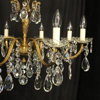French Pair of 8 Light Antique Chandeliers (6 of 10)