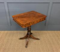 19th Century Flame Mahogany Lamp Table (2 of 10)