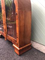 Art Deco Figured Walnut Display Cabinet (10 of 10)