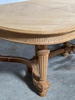 Huge Bleached Oak French Extending Dining Table (9 of 24)