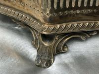 Antique Victorian Serpentine English Silver Plate Acanthus Salver Tray (11 of 13)
