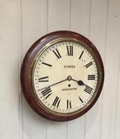 Mahogany Fusee Dial Clock (11 of 19)