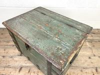 Distressed Painted Metal Bound Trunk (8 of 10)