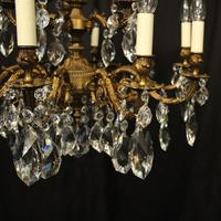 Italian Gilded 15 Light Antique Chandelier (7 of 10)
