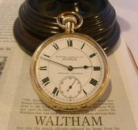 Antique Pocket Watch 1903 Special Waltham 10ct Rose Gold Filled Fwo (2 of 12)