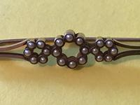Edwardian 15ct Gold & Seed Pearl Bar Brooch (4 of 7)