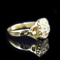 Antique Victorian Old Cut Diamond Cluster 18ct 18K Yellow Gold Ring 1.0ct total (2 of 9)