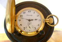 Vintage Pocket Watch 1970s Swiss County 17 Jewel 12ct Gold Plated FWO (5 of 12)