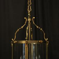 French Gilded Bronze Antique Hall Lantern (2 of 10)