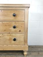 Antique Victorian Pine Chest of Drawers (7 of 9)