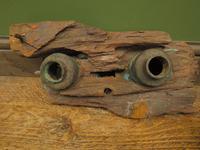 Antique Maritime Ship Deadeye Rigging Blocks & Scupper Ports, Old Wreck Salvage (11 of 13)