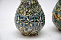1960's Pair of Vallauris Ceramic 'Mosaic' Vases by Jean Gerbino (4 of 10)