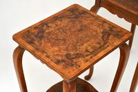 Pair of Matched Burr Walnut Edwardian Side Tables (2 of 10)
