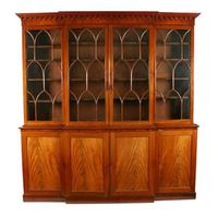 Georgian Mahogany Breakfront Bookcase (4 of 6)