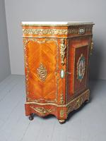 Antique Louis XVI Style Kingwood & Marble Cabinet (10 of 18)